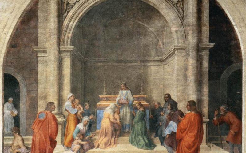 (ilustračný obrázok - Andrea del Sarto - Miraculous Cure by Relics of Filippo Benizzi)
